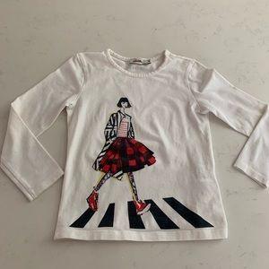 Junior Gaultier Girls Designer Top